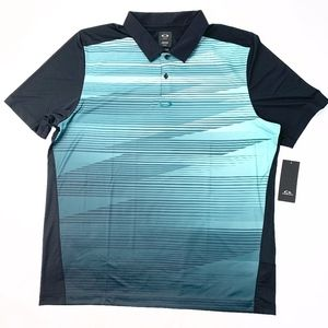 Oakley Ace Golf Polo Mens Shirt Blackout XXL